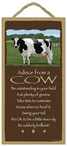 Advice from a Cow -  wood plaque - officially licensed from Your True Na... - $12.86