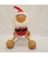 Happy Santa Christmas Massager Four Legs Wood Handheld Full Body - $14.89