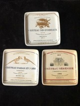 """Creative Co-Op, Set of 3, Vintage French Wine Labels 5"""" Square Appetizer... - $28.66"""