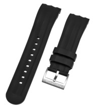 Nautica Men's N18722G | A18722G NST 101 Black Silicone 24mm Original Watch band - $20.78