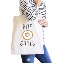 Bae Goals Natural Canvas Bag Cute Graphic Birthday Gifts For Him - $13.99