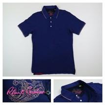 Robert Graham Mens XS Blue Short Sleeve Golf Casual Short Sleeve Polo Shirt - $39.99