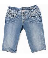 Silver Nina Capri Womens Jeans Flap Pockets Faded Medium Wash Size 27/14 - $23.49