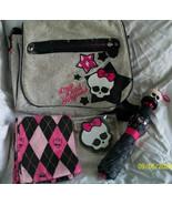 Monster High Lot Book,Watzit, Child's Umbrella, Eraser,Knit Scarf, Messe... - $38.00