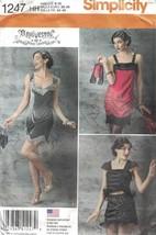 Flapper 1920's Dress & Purse Simplicity 1247 3 Designs Sizes 6-12 New Un... - $10.99