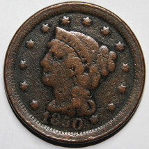 1850 Large Cent Liberty Braided Hair Head Coin Lot # A 1593