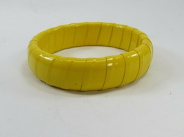 Vintage Yellow Plastic Tape Wrapped Bangle 1950s 33678 - $89.09