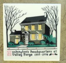 "George Washingtons Headquarters Building Valley Forge 6"" Decorative Squa... - $11.25"