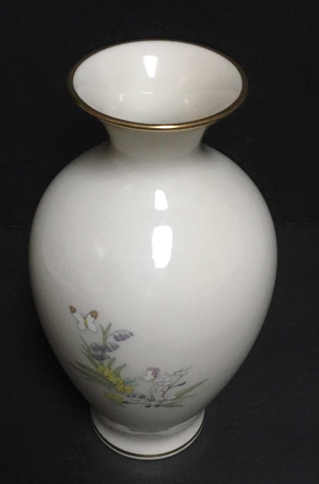 """Lenox Mother's Day 1984 Deer Family Porcelain Vase Limited Edition 7.5"""""""