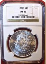 1880-S NGC Morgan Silver Dollar. MS63. MG5. - $69.00