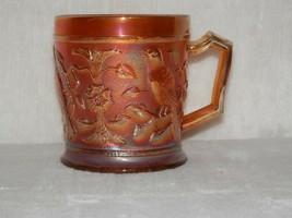 Vintage Imperial Marigold Robin Bird Carnival Mug Tea Coffee Cup Northwood - $24.99
