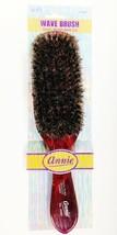 """Annie Soft 100% Boar Wave Brush #2080 9""""x2.5"""" Polished Natural Hardwood Handle - $1.97"""