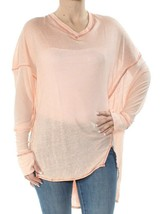 Free People Donne Never Gives Up OB662847 Top Peach Rosa XS - $33.66