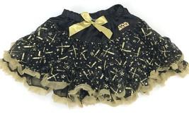 Disney Star Wars Tutu for Girls Child Skirt Black Gold (XL) - £18.96 GBP