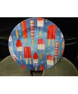 "Round Melamine Plate Dish 11"" - ""Ice Pops"" - $8.17"