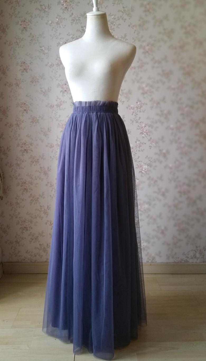 Maxi tulle skirt purple 780 5