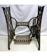 Antique Cast Iron Singer Sewing Machine Treadle Stand Table Base Ornate ... - $148.45