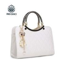 2017 new Luxury simple shells leather handbag Famous brands designer fem... - $29.98