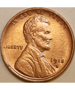 1915 D Lincoln Wheat Cent - Red Gem BU / MS RD / UNC - $170.00