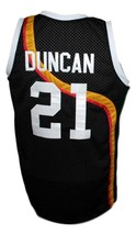 Tim Duncan #21 Roswell Rayguns Basketball Jersey Sewn Black Any Size image 2