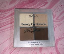 L'Oreal Beauty Confidential Diane's Neutrals 834 Eyeshadow Quad RARE - $20.79