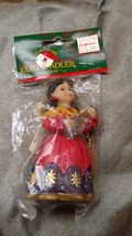 Kurt Adler Christmas Ornament Santas World NEW Chior Girl Music - $9.99