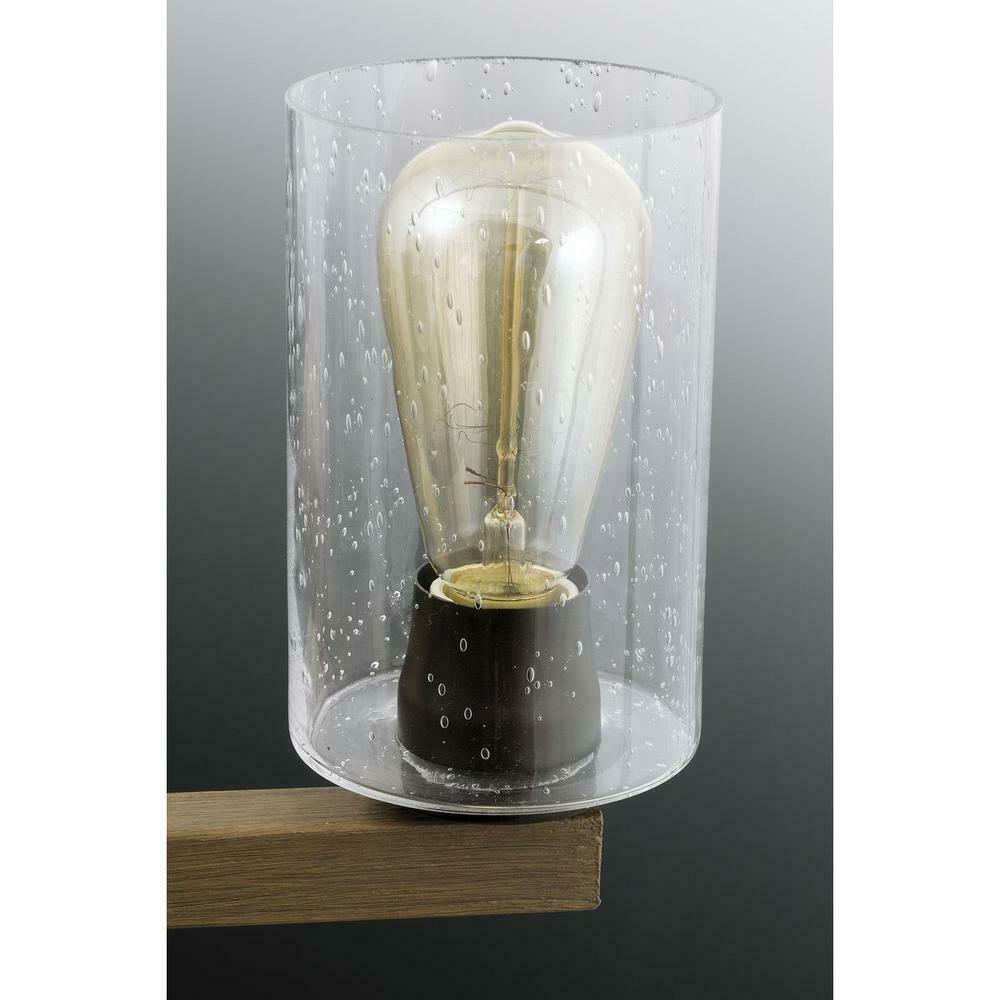 Barnes Mill 3-Light Antique Bronze Bathroom Vanity Light, Seeded Glass Shades
