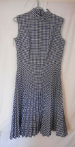 Vintage NWT Checked Dress 1960s 1970s Size 14 zip back - $39.59