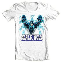 Black bolt comic book superhero retro cotton tshirt for sale online graphic tee thumb200
