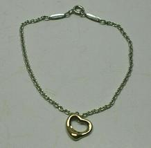 Tiffany & Co Peretti 18K Rose Gold Open Heart Sterling Silver Bracelet B... - $598.98
