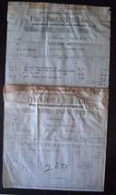 Pair of 1920 Peden Iron Steel Rifle Shot Gun Invoices - Houston, Texas -... - $9.46