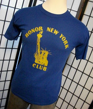 Honor New York Club Statue of Liberty blue tee shirt by JERZEES large l ... - $19.95