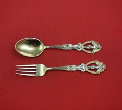 Christmas by A. Michelsen Sterling Silver Fork and Spoon Set 2pc 1911 Ve... - $503.91