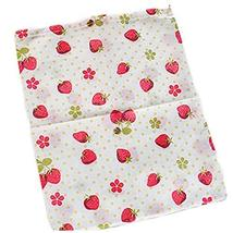 Set of 5 [Strawberry] Nonwooven Moistureproof Drawstring Dry Bags,14.3 11.4''