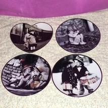 4 Vtg Kim Anderson Ensesco Pretty as a Picture Porcelain Collectors Plat... - $29.69