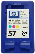 HP 57 Tri Color Genuine C6657A Ink cartridge OEM for Deskjet OfficeJet Printer - $14.75