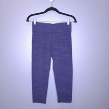Victoria Sport Blue Wide Waistband High Rise Cropped Leggings Size Small - $20.00
