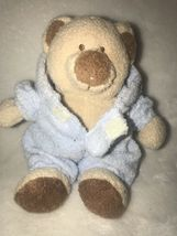 """Baby Ty Pluffies PJ Blue Bear Bunny Removable Pajamas Plush Love To Baby 7"""" 2005 image 3"""