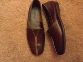 dexter womens shoes loafers brown leather new nwot slip on   sz 5 - $18.50