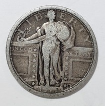1917 Type 1 STANDING LIBERTY QUARTER COIN Lot # 818-15