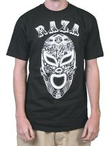Raza Mens Black or Purple Lucha Libre Luchador Wrestling Campeon Mask T-Shirt NW image 4