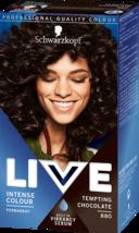 Schwarzkopf Live Hair Dye Intensive Hair Colour Brown TEMPTING CHOCOLATE... - $15.89