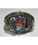 "Vintage ""American Farmers Feed The World"" Belt Buckle C1724 - $24.09"