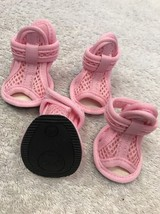 Dog Shoes Size S Pet Puppy Clothing Light Pink Mesh Type Sandal - $16.03