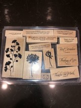 Stampin' Up! Kind & Caring Thoughts stamp set Thank you Best Wishes Get ... - $9.89