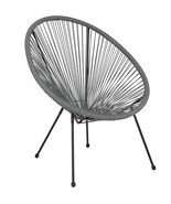 Valencia Oval Comfort Series Take Ten Grey Rattan Lounge Chair  - $125.41