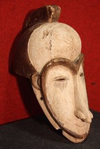 GRANDE SCULPTURE AFRICANA WOOD PAINTED MASK COLLECTIBLES FIRST '900 H 54 cm - $1,891.94