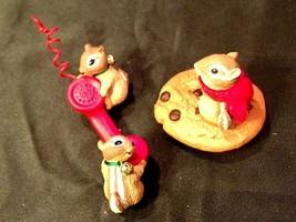 Hallmark Handcrafted Ornaments Friendship Line & Chocolate Chipmunk AA-1... - $49.95