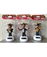 SET of 3 MARIACHI BAND SOLAR powered dashboard bobble men musicians BLACK - $9.00