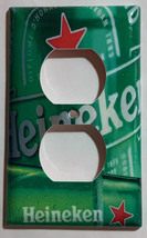 Heineken Beer Cans bottle Light Switch Power Outlet wall Cover Plate Home Decor image 2